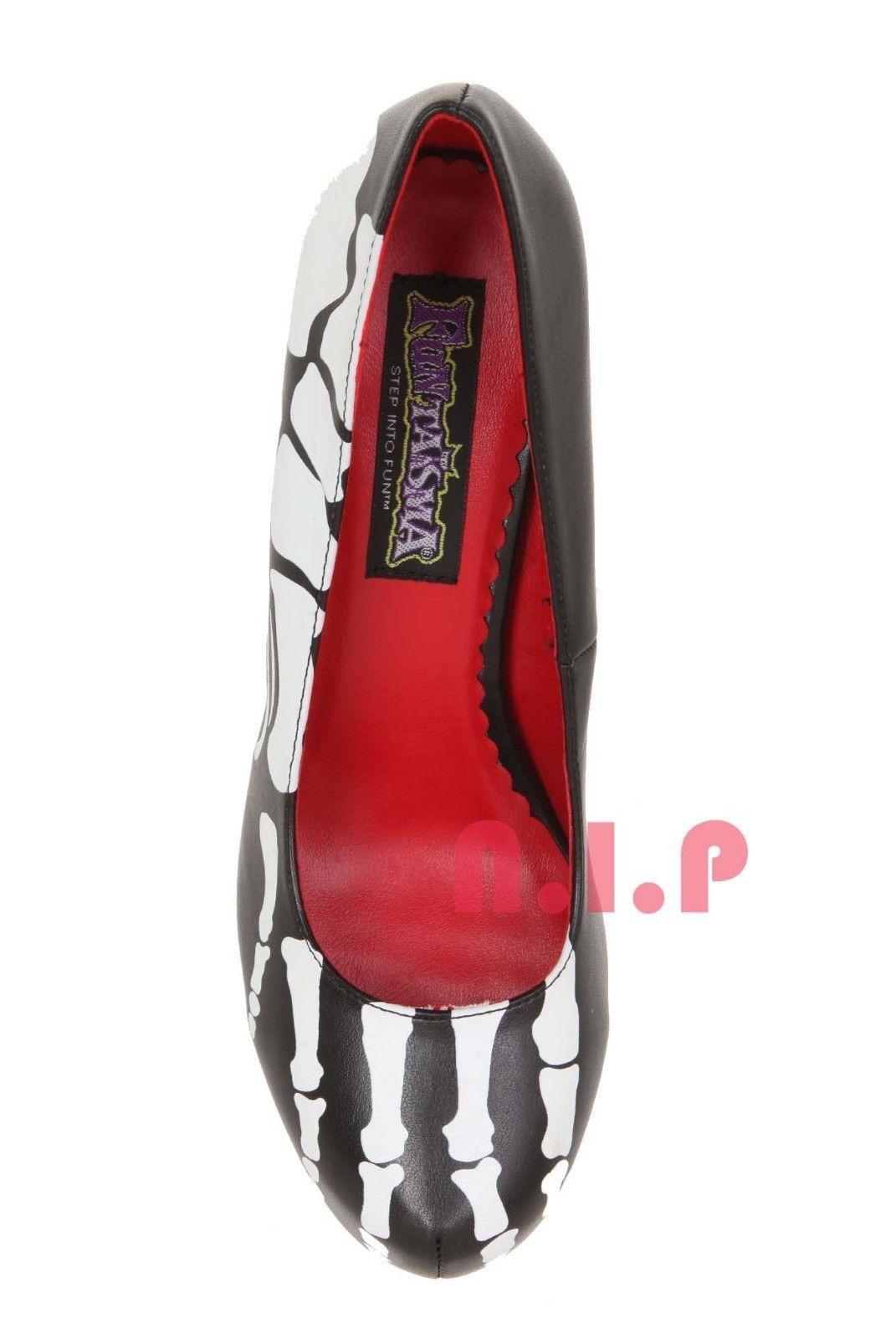 FUNTASMA Skeleton Bones Halloween Hot Topic Goth Punk Emo Pumps High Heels Shoes