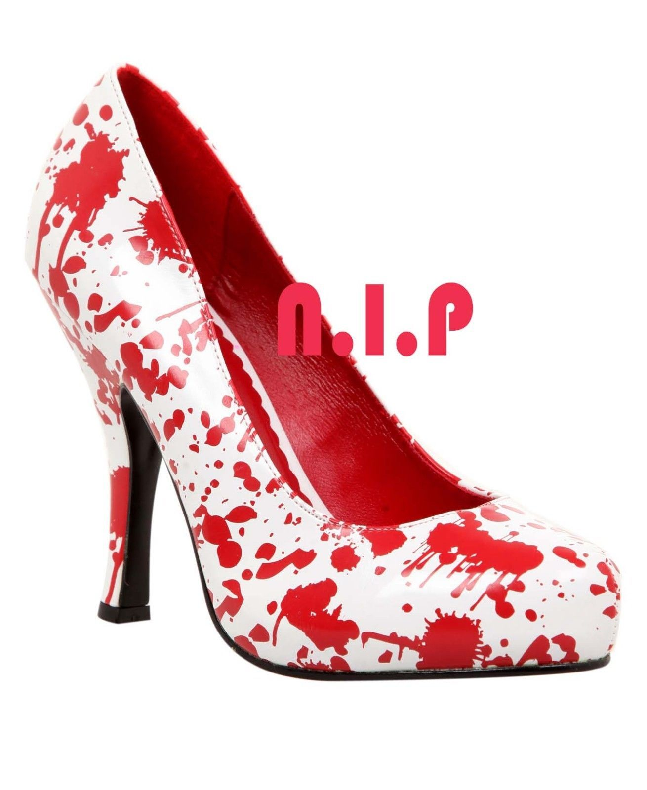 FUNTASMA White Blood Splatter Horror Hot Topic Punk Goth Pumps High Heels Shoes