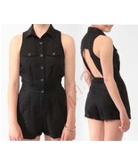 Forever21 Cutout Open Back Utility Club Street Wear Party Sexy Jumpsuit ... - $105.00