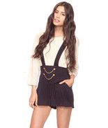 Forever21 Polka Dot Chains Buttons Suspender Overalls Short Pants Party ... - $105.00