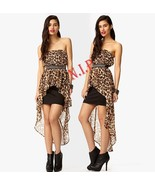 Forever21 Sheer Chiffon Leopard High low Maxi Dress Party Cocktail Clubw... - $105.00
