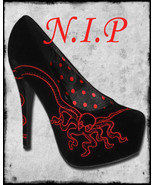 Hot Topic TOO FAST Black Red Octopus Goth Punk Cyber Visual Kei Platform... - $189.00