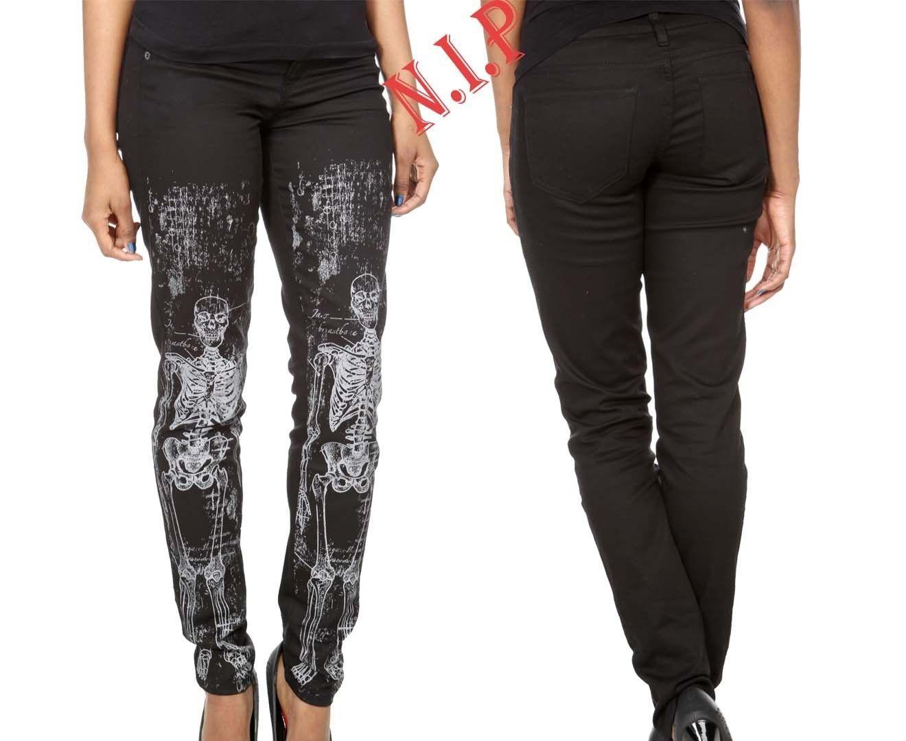 Hot topic skeleton pants for women