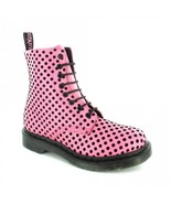 NEW Dr. Martens Pink Polka Dots 8 Eye Zip Boots Hot Topic Punk Goth Club... - $520.00