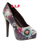 Too Fast Goth Sugar Skull Spider Web Punk Tattoo Emo Platform High Heels... - $202.00