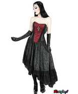 Royal Gothic Queen Vampire Cross Grown Visual Kei Punk Cyber Cosplay Hot... - $208.00