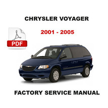 2001   2005 Chrysler Voyager Year Specific Factory Diagnostic & Repair Manual - $14.95