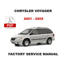 2001   2005 Chrysler Voyager & Grand Voyager Factory Service Repair Shop Manual - $14.95