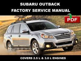 2010   2014 Subaru Outback Ultimate Factory Fsm Service Repair Workshop Manual - $14.95