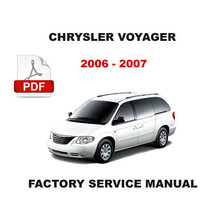 2006 2007 CHRYSLER VOYAGER DIESEL ENGINE FACTORY SERVICE REPAIR WORKSHOP... - $14.95