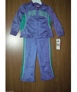 Puma Baby Girls 2 Pc Tracksuit Set, Purple/Green Color. Size 18 Mos. NWT - $21.77