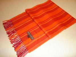 Orange scarf,shawl made with Babyalpaca wool,wrap - $62.40