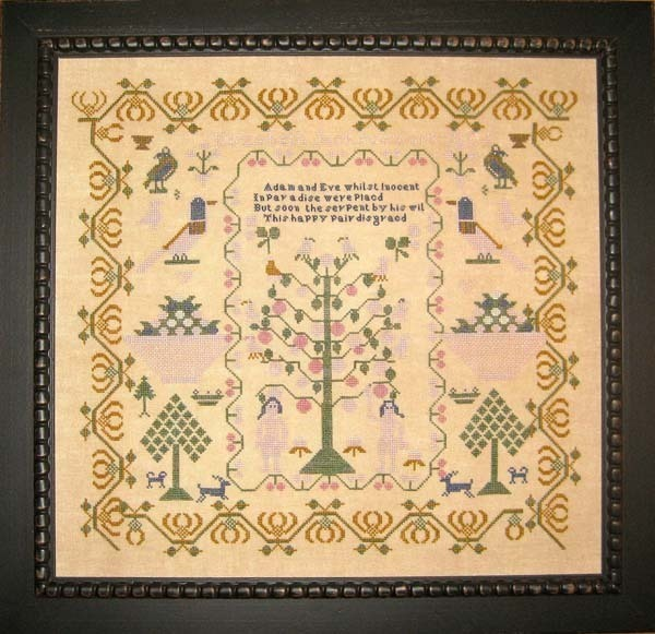 Elizabeth Jackson 1827 Antique Sampler Reproduction pattern Samplers Revisited