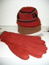 Red woolen hat, cap and gloves,mittens,Alpacawool  - $43.50