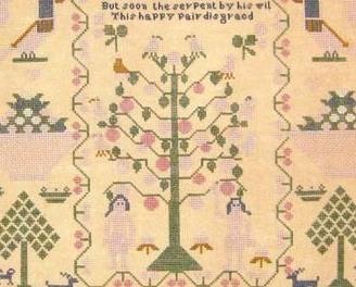 Elizabeth Jackson 1827 Antique Sampler Reproduction pattern Samplers Revisited
