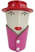 She-Brew Fancy Lady Tea Infuser 4pc Ceramic Mug Set - £12.96 GBP