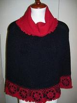 Turtleneck Poncho made of Baby alpaca wool, outerwear  - $225.00