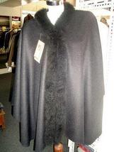 Cape,Poncho, Baby Alpaca wool and fur trimming outerwear  - $682.00