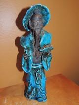 "Chinese type Mud Man Men 10"" Blue w/ Fish Mudman Vintage poss Italian Ma... - $99.99"