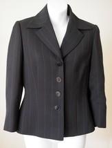 Tahari 4 Jacket Black Pinstripe 3/4 Sleeve Blazer - $23.50