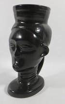 1963 Trader Vic Coffee Grog Short Headdress Tiki Mug Black Ceramic MINT ... - $98.99