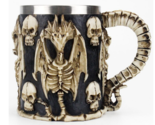 Skull Mug Contain Viking Skeleton Death Grim Knight Gothic Design Tankard Mugs18