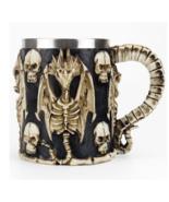 Skull Mug Contain Viking Skeleton Death Grim Knight Gothic Design Tankar... - $25.20