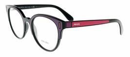 Prada PR08UV SSA1O1 52 Catwalk Black / Bordeaux / Fuxia Round Eyeglasses - $306.90