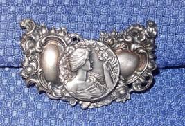 Antique Fishel Nessler & Co Art Nouveau Sterling Silver Nurses Belt Buckle - $75.00