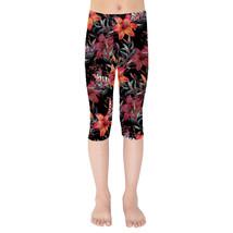 Mysterious Tropical Flowers Girls Capri Leggings - $35.99+
