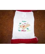 """Size XS X Small 9-11"""" Dog Sweater Holiday Red White for Pet The Holly Da... - $12.00"""