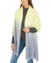 """DKNY Woven Ombre Soft Cozy Scarf / Wrap, Yellow / Blue, 84"""" x 32"""" - $24.99"""