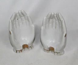 Vintage Set of 2 Porcelain Open Hands Figurine - Made in Japan  - $12.61