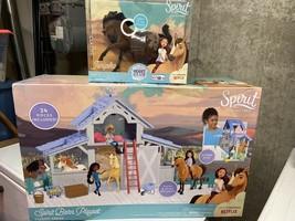 Just Play Spirit Barn Playset Classic Series & Junipero Horse Dreamworks Netflix - $66.83