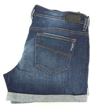 NWT DIESEL Women's Med. Wash R120B Alaisi Distressed Cuffed Denim Shorts... - $41.39