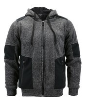 Boy's Soft Sherpa Lined Two Tone Quilted Juniors ZipUp Fleece Hoodie Kids Jacket image 2