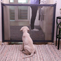 184*79cm Dog Fences Dog Gate The Ingenious Mesh Magic Pet Gate For Dogs ... - $19.20