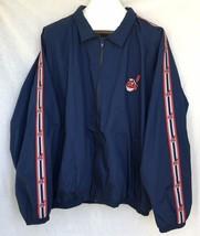 Cleveland Indians Windbreaker Jacket Chief Wahoo MLB Baseball Mens XL - $39.59