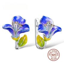 Silver Stud Flower  Earrings For Women - $68.29+