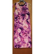 Enfocus Studio Size 10 Pink Floral Sleeveless Dress - $19.80