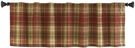 Style Selections Bernard 15-in Red Multicolor Polyester Back Tab Valance - $28.66