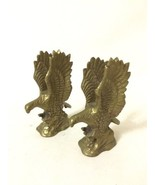 "Pair of Vintage Brass American Eagle Figurine Statue 4"" Tall - $34.65"