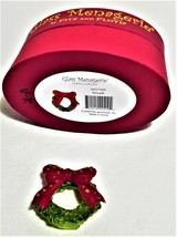 Fitz and Floyd Glass Menagerie Christmas Wreath 643/1205 - $17.00