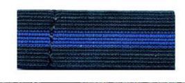12 Blue Stripe Black Elastic Mourning Band Funeral Police Law Enforcemen... - $15.65