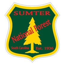 Sumter National Forest Sticker R3314 South Carolina YOU CHOOSE SIZE - $1.45+