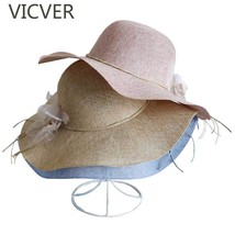 2019 Floral Summer Straw Hats For Women Beach Sun Hat Wide Brim Floppy C... - $11.38