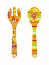 Disney Parks Citrus Mickey Mouse Melamine Serving Utensils Fork Spoon - $18.76