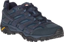 Merrell Moab 2 Smooth Hiking Boot (Men's) in Navy Full Grain Leather/Mes... - $122.81