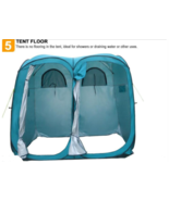 Twin Pop-Up Shower Tent Changing Room with Pad - $178.19