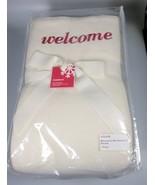 Lambswool Blanket Welcome guest bedroom Full QUEEN blanket embroidered B... - $211.34